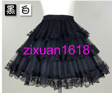 New White/Black Wedding Petticoat Underskirt 3 Layers Hoopless Tulle Slips TUTU