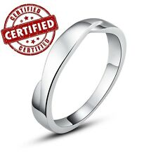 100% Solid 925 Sterling Silver Simple Style Men's Ring High Quality Nickel Free