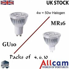 4 /6 /10 Pack SunSolar 4W MR16 / GU10 LED Light Bulb Cool / Warm White Spotlight