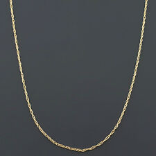 10K YELLOW, WHITE or ROSE GOLD .9mm MACHINE MADE LITE ROPE LINK PENDANT CHAIN