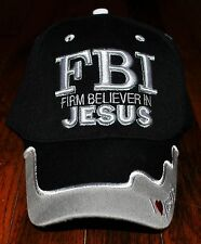 New FBI Firm Believer in Jesus Christian Hat Ball Cap Camo Black Blue Pink