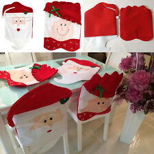 Mr/Mrs Santa Claus Hat Christmas Party Dining Table Chair Back Cover Decor Gift