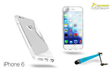 """S Curve Gel Case For iPhone 6 Plus (5.5"""" )+SG + Stylus TPU Skin Soft Jelly Cover"""