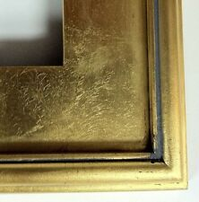 """Classic Plein Air Picture Frames Hand Applied Gold Leaf Finish 3 1/8"""" wide"""