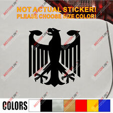 Germany German Flag Coat of Arms Eagle CarBumper Sticker Decal for VW BMW Audi