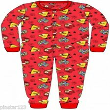 Boys ANGRY BIRDS   Onesie Pyjamas All-in-One/ Jumpsuit all sizes NEW