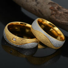 Great Wedding Ring Lover Titanium Ring Engagement Bands Matching Stainless Steel