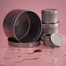 24 Rust Proof Tin Cans, 1, 2, 4, and 8 OZ Pick your Size, Storage, Pills, Favors