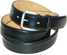 #550 - CENTER STITCH BLK, BRWN OR BOTH DRESS BELT FOR MEN IN SIZES UP TO 3XL