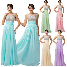 ON SALE Sexy Long Women Sleeveless Chiffon Ball Gowns Evening Prom Party Dresses