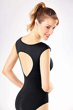 NEW! WOMENS DANCE BALLET LEOTARD WITH A WIDE TEAR DROP BACK. 3 COLORS! (RDE1526)