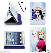 "Pen & Cute Frozen Cartoon Leather Case For Clickn kids 7"" Android Tablet"