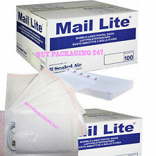 MAIL LITE PADDED BAGS JIFFY / ENVELOPES 'ALL SIZES' ALL COURIER - WHITE CHEAP