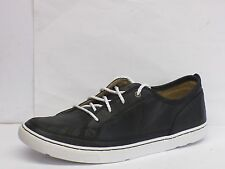 MENS BLACK/WHITE LEATHER ROCKPORT LACE UP  SHOES WITH ADIPRENE INSOLE K62453