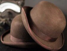 Steampunk-Victorian-Edwardian-Cosplay-Gothic-Ripper Street-BROWN BOWLER HAT