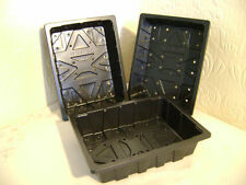 10 TO 50  HALF SIZE QUALITY PLASTIC SEED TRAYS with holes EXCELLENT VALUE