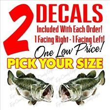 Largemouth Bass Car Boat Window Decal Sticker Outdoor Lunker Fishing Realistic