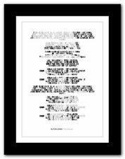 ELTON JOHN ❤ Tiny Dancer - song lyrics typography poster art print - A1 A2 A3 A4
