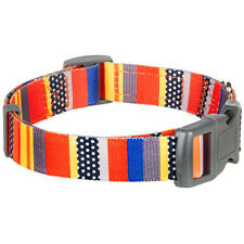 Blueberry Pet Nautical Flags Inspired Designer Adjustable Small Large Dog Collar