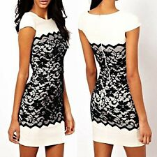 Summer New Fashion Women Lace Bodycon Cocktail Party Evening Pencil Mini Dress
