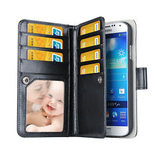 PU Leather Card slot multifunctional Pouch Wallet Stand Case Cover For Samsung