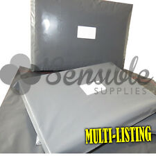 STRONG GREY PLASTIC POSTAL POSTAGE MAILING BAGS ENVELOPES PEEL & SEEL ALL SIZES