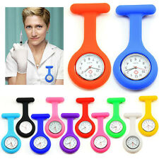 Portable Pocket Watch Rubber Brooch Doctor Nurse Watch Multicolor 10 Colors