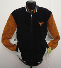 UNIVERSITY OF TEXAS LONGHORNS LEATHER JACKET BY G3 GIII SPORT NCAA COLLEGE
