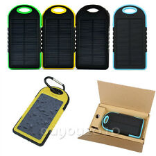 LED 5000mAh Solar Charging Portable Waterproof Mobile Power Pack with Climb-Bolt