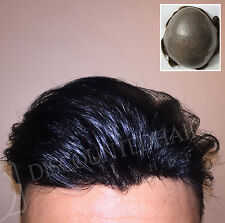Natural BIO Toupee Hair Replacement System Piece  Thin Skin Remy Virgin Mirage