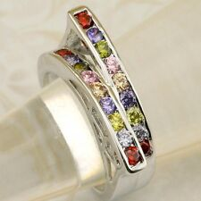 Size 6 7 8 9 Magic Nice Hot Mutli-Color CZ Gems Jewelry Gold Filled Ring K1924