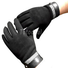Men's Winter Cool Warm Wool Touch Screen Gloves 3 Colors