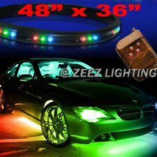LED Undercar Underbody Underglow Kit Neon Strip Under Car Body Glow Light Tube
