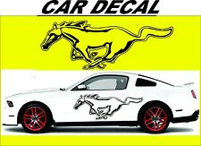 RACING HORSE CAR VINYL STICKER GRAPHICS DECAL PAIR CAR TRUCK ANY FORD MUSTANG