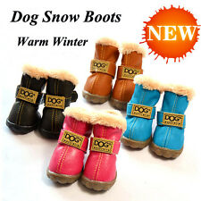 Pet Shoes Warm Velvet Thickening Dog Boots Shoes Warm Winter shoes for dogs cats