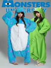 New Adult Monsters University Mike Wazowski&Sulley Costume Cosplay Pajama Onesie