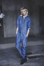 H&M Fall 2014 Conscious Denim Collection JUMPSUIT Blue Lyocell Low Rise NWT