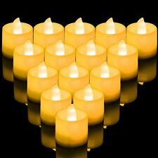 1/24 Flameless Battery Operated LED Tea Light Flickering Amber Tealights Candles