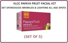 2XVLCC PAPAYA FRUIT FACIAL KIT REDUCES WRINKLES &LIGHTENS ALL AGE SPOTS SET OF 5