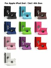 """Blue 360 Degree PU Leather Cover Case 9.7 """" Apple iPad 2 2nd Gen"""