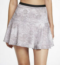 NWT EXPRESS $50  Fit and Flare Minus the Leather Waistband Neutral Print Skirt