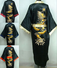 Double-face Chinese silk/satin Men's Kimono Robe Gown bathrobe