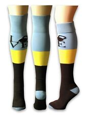 Blue Kettlebell LOVE Knee Socks for Crossfit OLY Soccer Volleyball Running