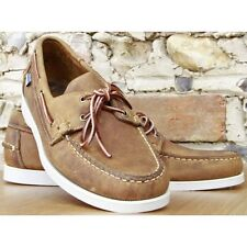 Men's Sebago Docksides Light Brown/White Deck/Casual Shoes **IDEAL GIFT**