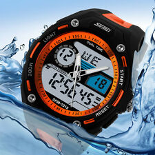 Fashion Men's Waterproof Digital Alarm Date Sport Analog Watch LED Backlight