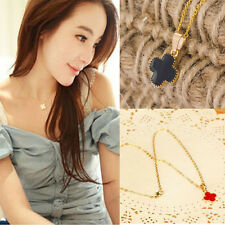 Fashion Enamel Lucky Four Leaf Clover Pendant Long Chain Necklace 1Pcs