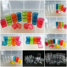 24 Small Clear Plastic Boxes Color Tiny Item Jewelry Box Beads Storage Container
