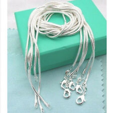 """Lowest price solid 925 sterling silver 2mm snake chains 16""""-24"""" necklace pendant"""