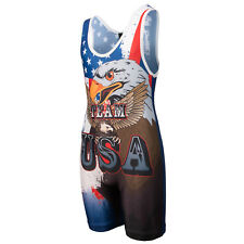 KO Sports Gear's Team USA Wrestling Singlet- Youth and Adult