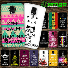 "KAMGO - Design ""KEEP CALM"" Handy Hülle für Samsung - Hard Case Cover Schale"